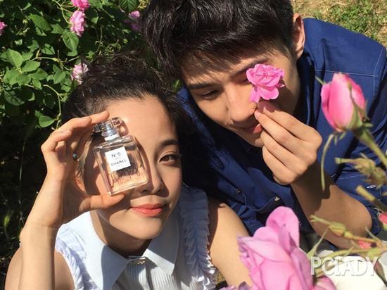 欧阳娜娜和刘昊然拍摄广告的花絮